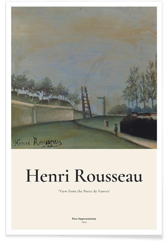 Henri Rousseau, Rousseau - View from the Porte de Vanves, Paris affiche