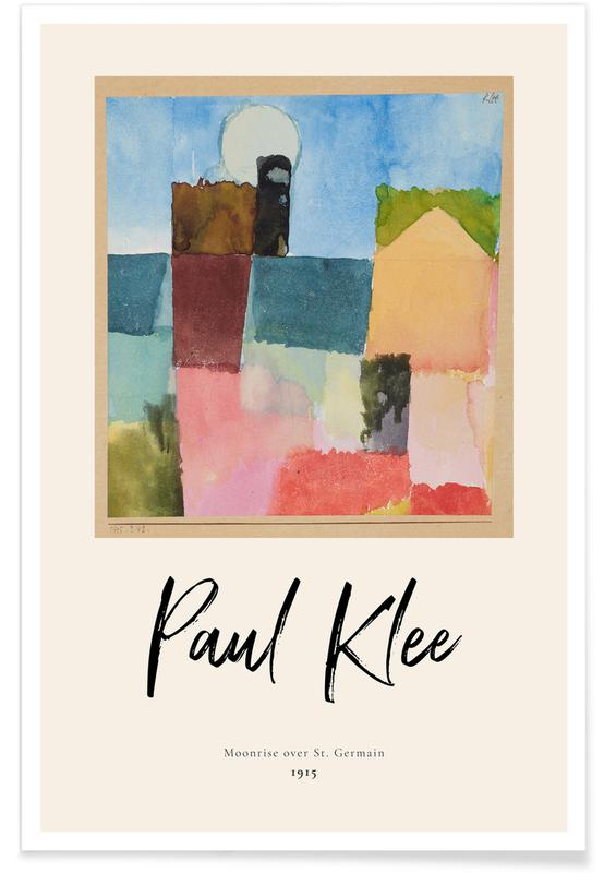 Paul Klee, Klee - Moonrise over St. Germain affiche