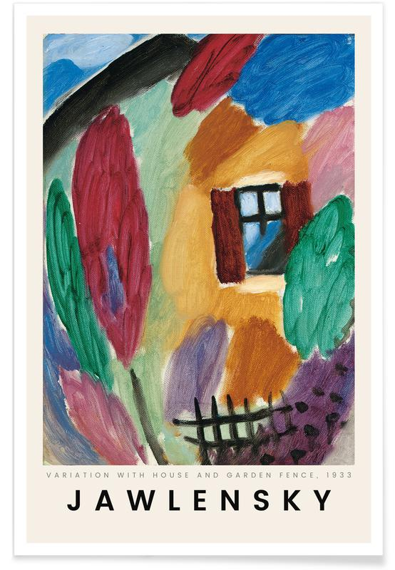 Alexej von Jawlensky, Alexej von Jawlensky - Variation with House and Garden Fence affiche