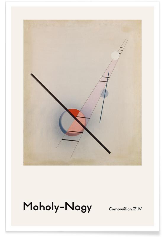 László Moholy-Nagy, László Moholy-Nagy - Composition Z IV -Poster