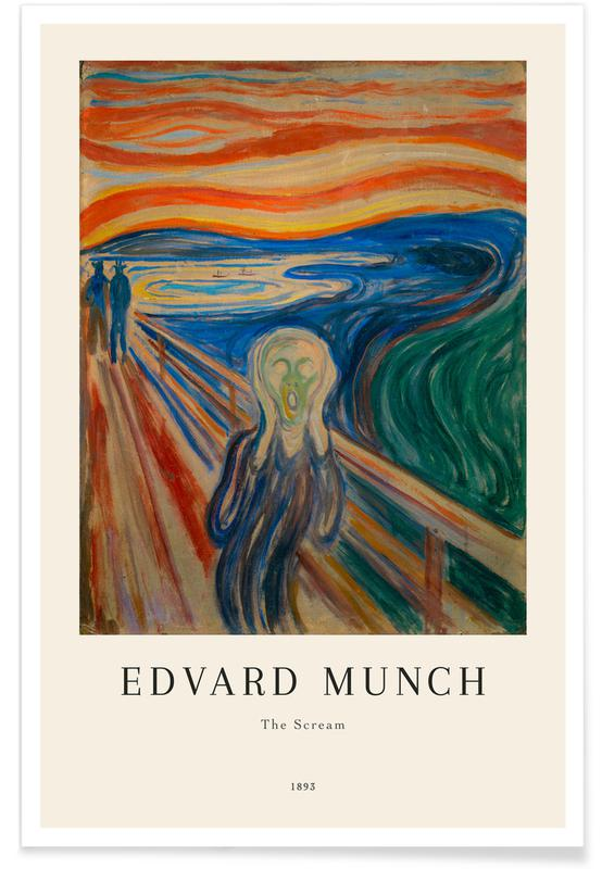 Paysages abstraits, Edvard Munch, Munch - The Scream affiche