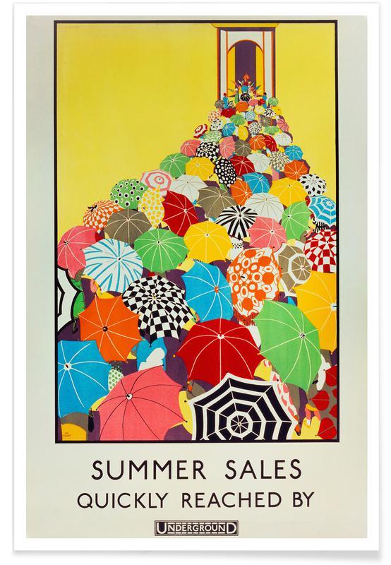 Mary Koop, Koop - Summer Sales, Quickly Reached By Underground Poster