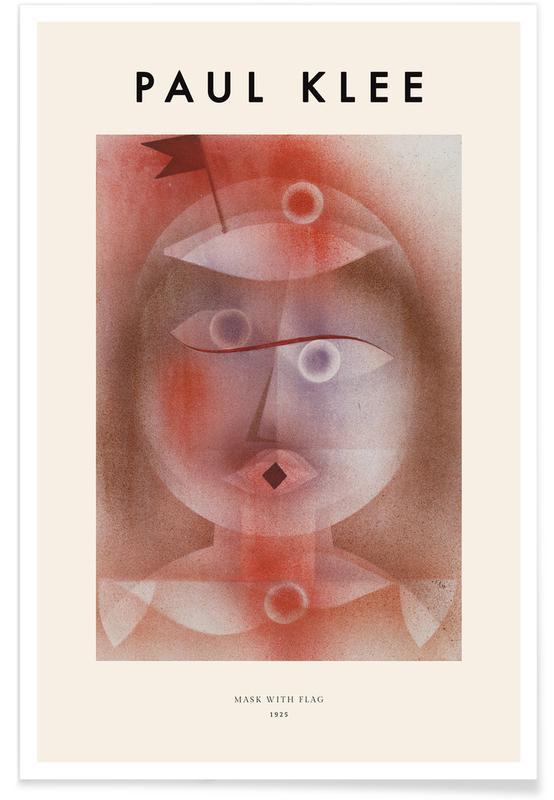 Paul Klee, Klee - Mask with Flag Poster