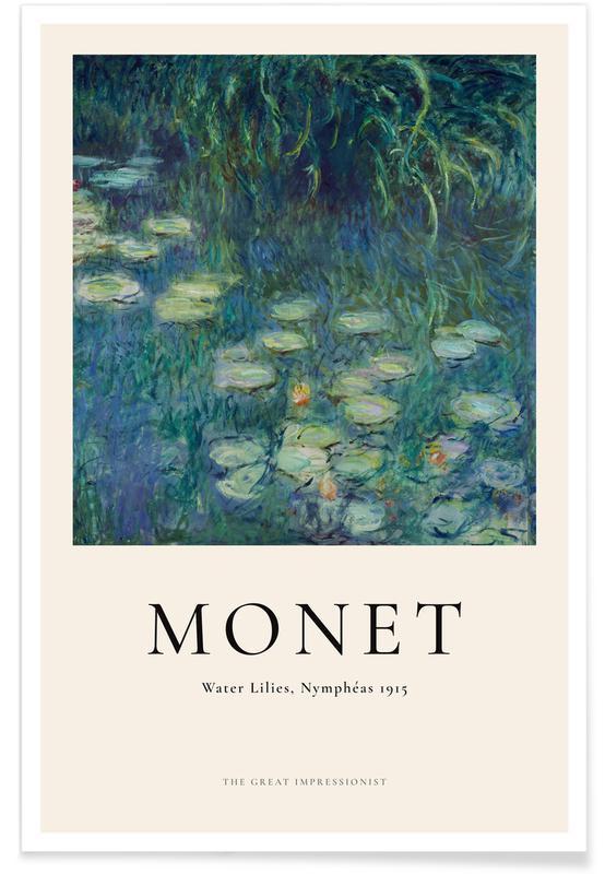 Claude Monet, Monet - Water Lilies, Nymphéas affiche