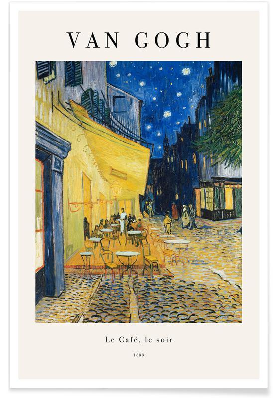 Vincent Van Gogh, van Gogh - Café Terrace at Night affiche