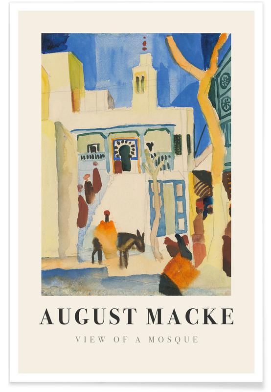 August Macke, Macke - View of a Mosque affiche
