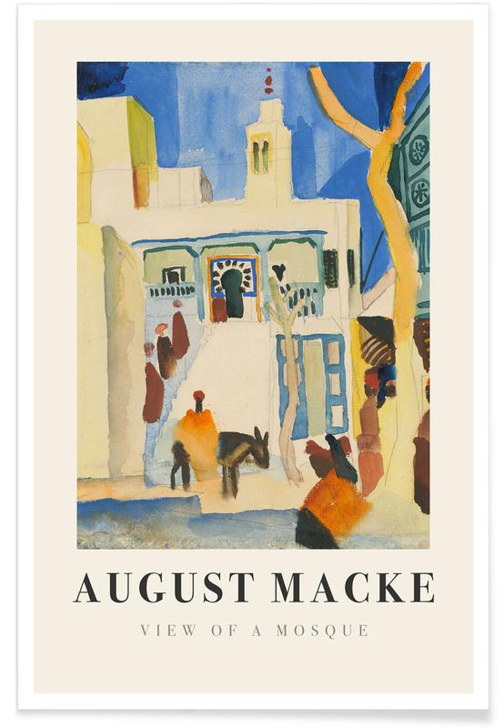 August Macke, Macke - View of a Mosque Poster