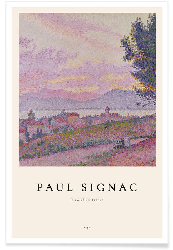 Paul Signac, Signac - View of St. Tropez affiche