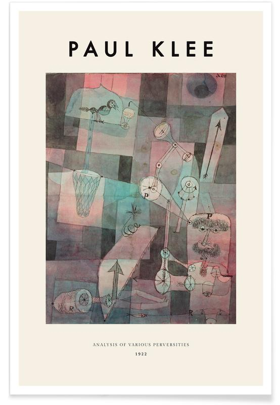 Abstract Landscapes, Paul Klee, Klee - Analysis of Various Perversities Poster