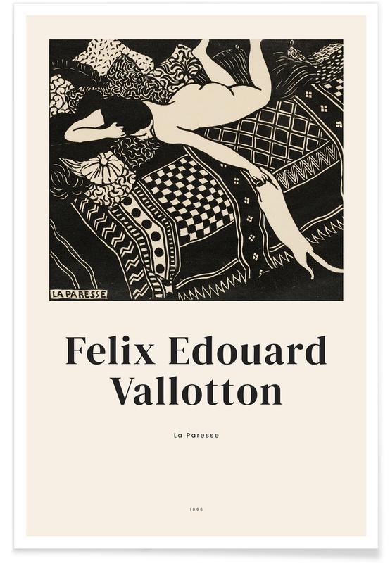 Portraits, Félix Vallotton, Vallotton - La Paresse Poster
