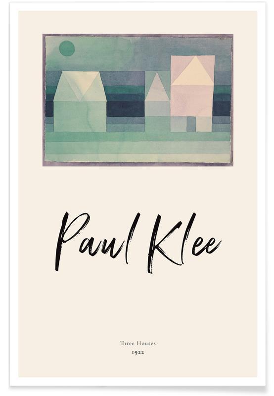Paul Klee, Klee - Three Houses affiche