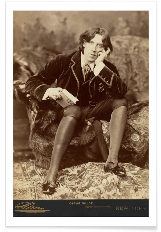 Napoleon Sarony, Portraits, Napoleon Sarony - Oscar Wilde. 1882. Poster