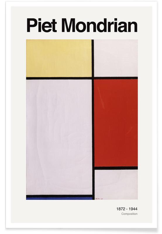 Piet Mondrian, Mondrian - Composition -Poster