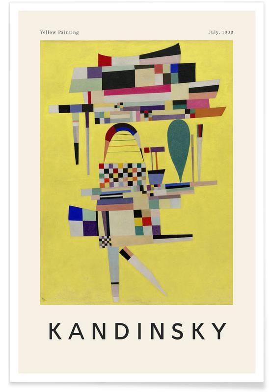 Wassily Kandinsky, Kandinsky - Yellow Painting affiche