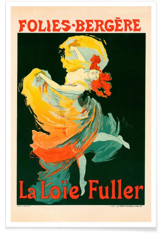 Jules Cheret, Chéret - Folies-Bergère, La Loïe Fuller affiche