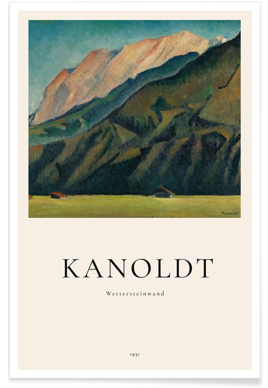 Abstracte landschappen, Alexander Kanoldt, Kanoldt - Wettersteinwand poster