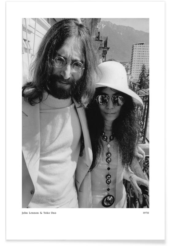 , John Lennon and Yoko Ono affiche