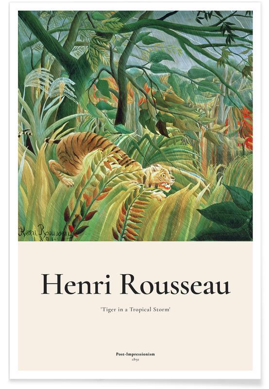 Henri Rousseau, Rousseau - Tiger in a Tropical Storm (Surprised!) Poster