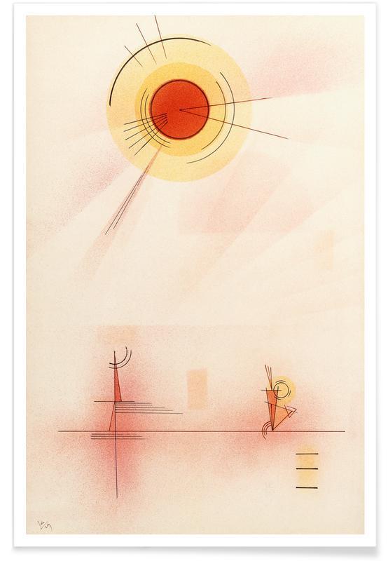 Wassily Kandinsky, Kandinsky - Rays Poster