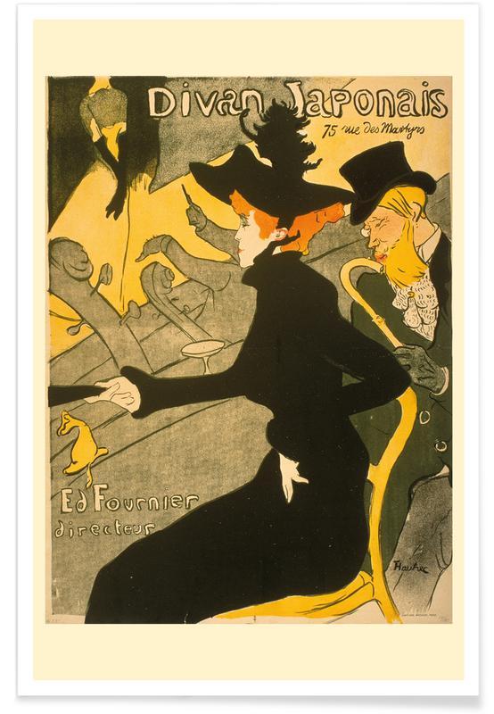 Henri de Toulouse-Lautrec, Porträts, Henri de Toulouse-Lautrec - Divan Japonais -Poster