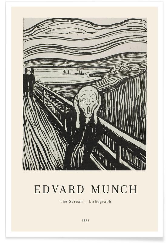 Edvard Munch, Munch - The Scream Lithograph affiche