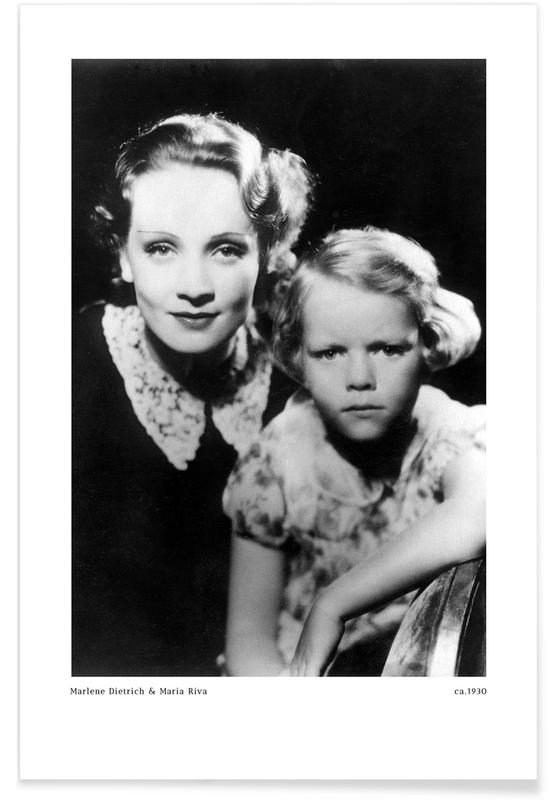 , Marlene Dietrich and Daughter Maria Riva poster