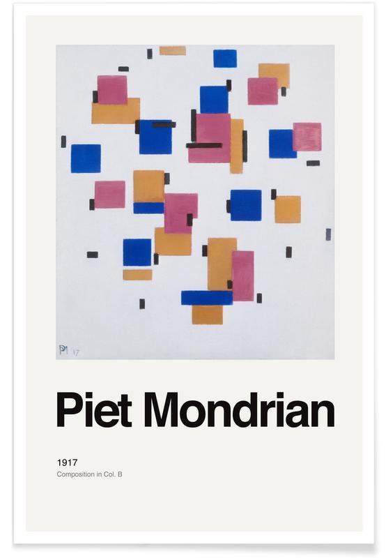 Piet Mondrian, Mondrian - Composition in Col. Bdrian - Composition in Col. B affiche