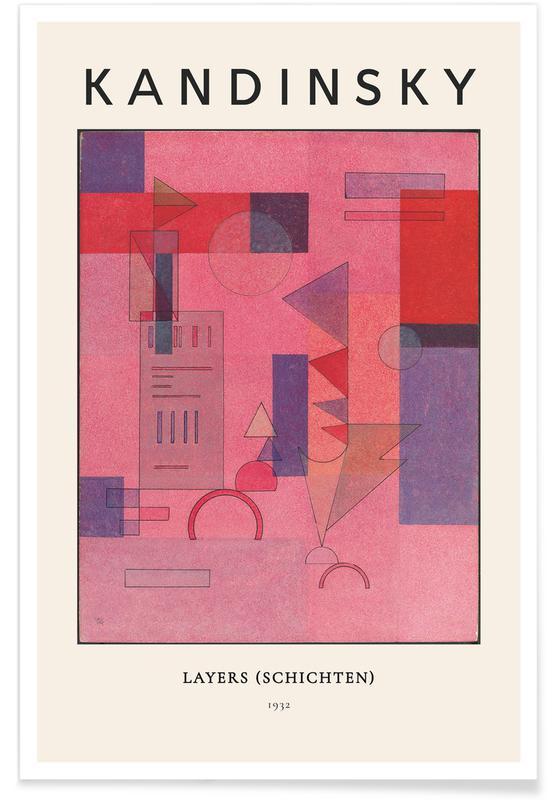 Wassily Kandinsky, Kandinsky - Layers (Schichten) affiche