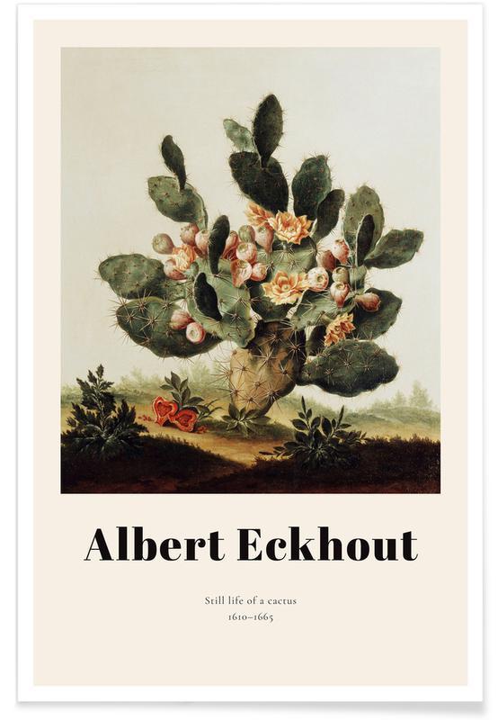 Albert van der Eeckhout, Cactus, Feuilles & Plantes, Albert van der Eeckhout- Still Life of a Cactus affiche