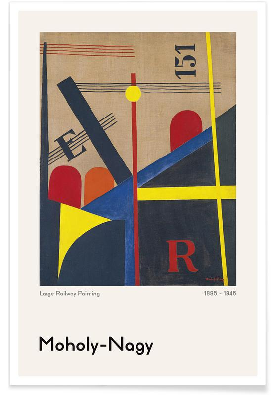 László Moholy-Nagy, László Moholy-Nagy - Large Railway Painting Poster