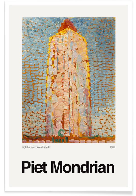 Piet Mondrian, Mondrian - Lighthouse in Westkapelle affiche