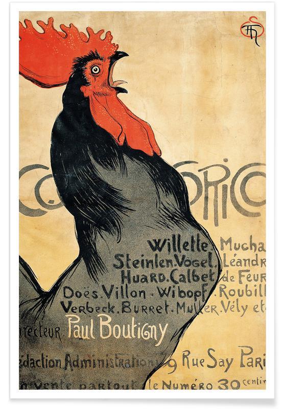 Théophile-Alexandre Steinlen, Théophile-Alexandre Steinlen - Cocorico Poster