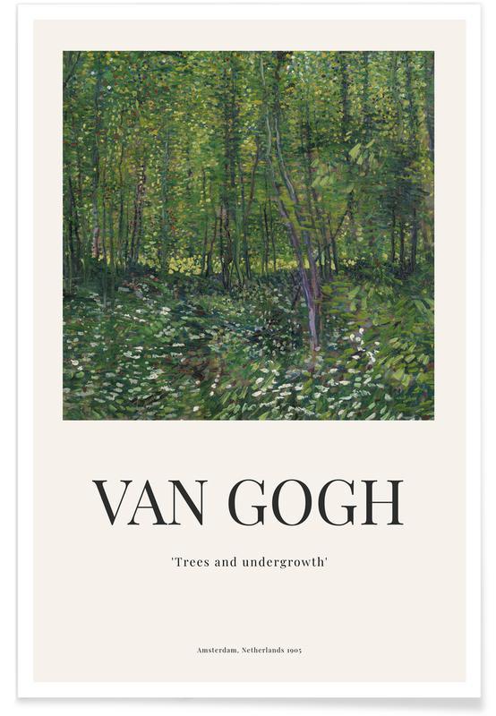 Vincent Van Gogh, van Gogh - Trees and UndergrowthThéophile-Alexandre Steinlen - Cocorico Poster