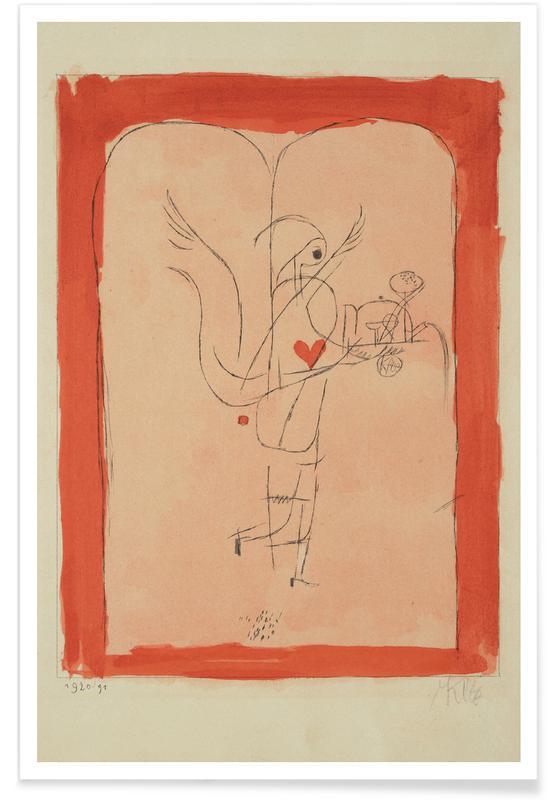 Paul Klee, Klee - A Guardian Angel Serves a Small Breakfast affiche