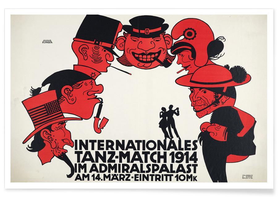 Julius Klinger, Klinger - Internationales Tanz-Match 1914 poster