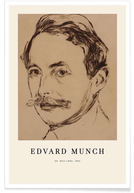 Edvard Munch, Portraits, Munch - Dr. Max Linde Poster