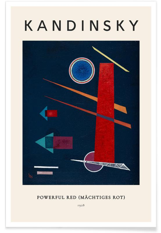 Wassily Kandinsky, Kandinsky - Powerful Red (Mächtiges Rot) affiche