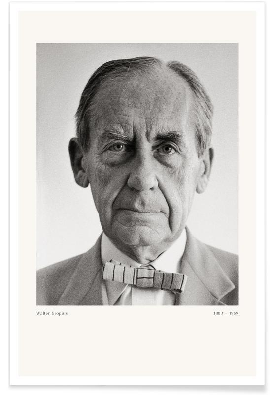 Franz Hubmann, Porträts, Franz Hubmann - Portrait of Walter Gropius -Poster
