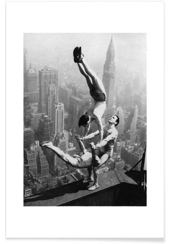 Portraits, Three Acrobats, Empire State Building affiche