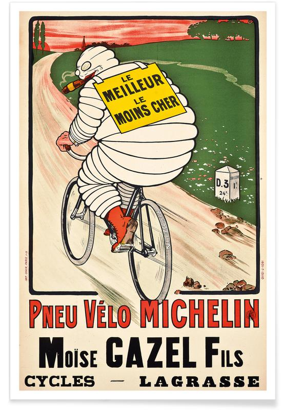 Marius Rossillon, Marius (O'Galop) Rossillon - Pneu Vélo Michelin Poster