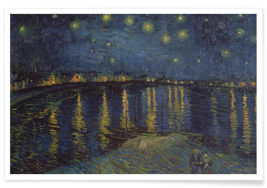 Paysages abstraits, Vincent Van Gogh, van Gogh-Starry Night II affiche