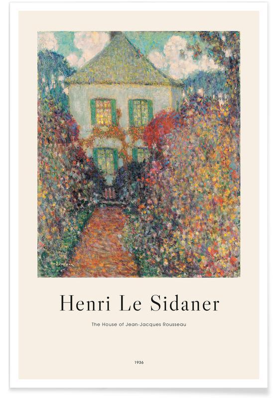Henri Le Sidaner, Le Sidaner - The House of Jean-Jacques Rousseau -Poster