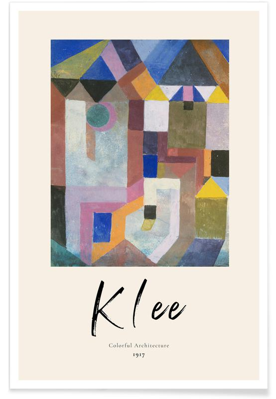 Paul Klee, Klee - Colorful Architecture -Poster