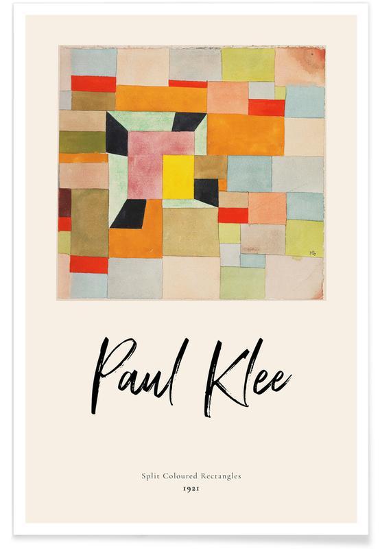 Paul Klee, Klee - Split Coloured Rectangles affiche