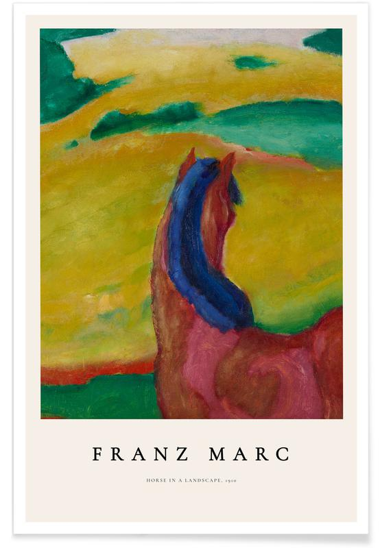 Franz Marc, Franz Marc - Horse in a Landscape affiche