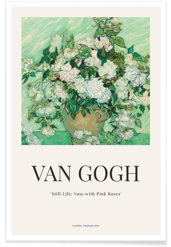 Vincent Van Gogh, van Gogh - Still Life: Vase with Pink Roses póster