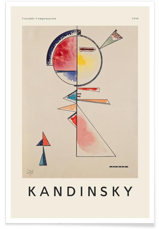 Wassily Kandinsky, Kandinsky - Unstable Compensation affiche