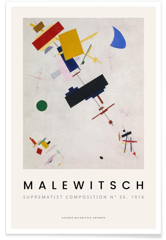 Kasimir Malewitsch, Malewitsch - Suprematist Composition N° 56, 1916 Poster
