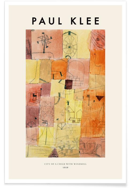 Paul Klee, Klee - City of a Child with Windmill, 1919 affiche