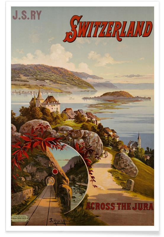 Vintage Travel, d'Alesi - Switzerland Across the Jura Poster